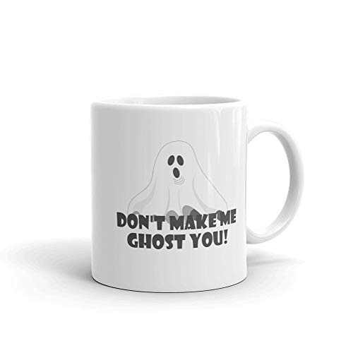Meme Coffee Mug, Social Media Icons, Halloween Pun, Ghost Face, Ghostly, Bad Break Up, Heart Break, Stop Talking Avoid Phone Calls Ignored -