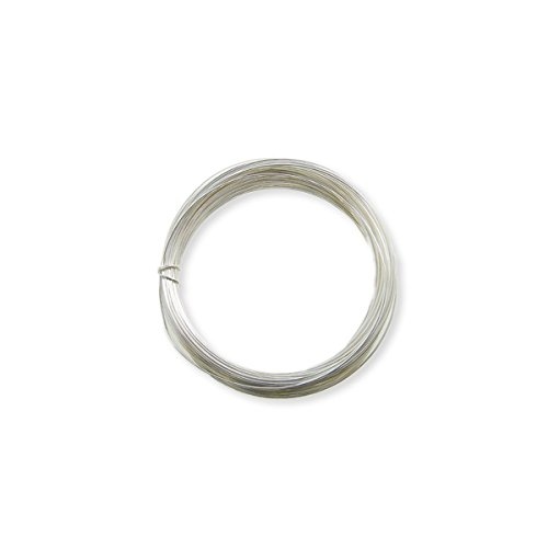 0.2mm (32 gauge) Craft/Jewellery Making Wire - Non Tarnish - Silver Plated Copper Wire - 25 metres The Bead Shop