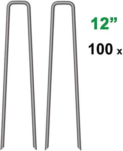 Garden Stakes Yard Outdoor Lawn Metal Heavy Duty Staples 6 Inch Anchor 100 PCS