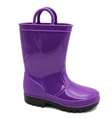 SkaDoo Dark Purple Little Kid Youth Rain Boots 1 M US Little Kid
