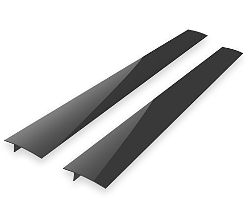 Kohzie Stove Counter Gap Cover - Silicone BLACK (Set of 2) Stove Gap, Gap cap for stoves - Seals the Gaps Between Appliances and (Range Trim Kit)