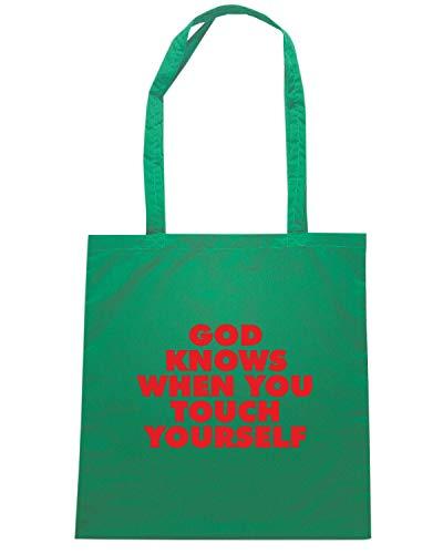 GOD FUN0319 Verde Borsa KNOWS Speed Shirt DECAL Shopper Wn6qwCTc