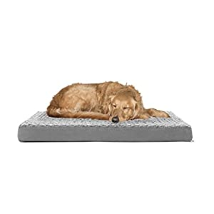FurHaven Deluxe Orthopedic Pet Bed Mattress for Dogs and Cats, Gray, Large