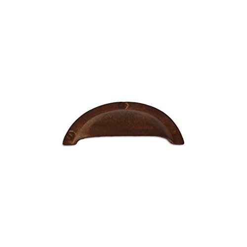 - RCH Hardware Rust Finish Wrought Iron Decorative Drawer Pull Plain Cup, Rustic Country Style Matching Screws Included