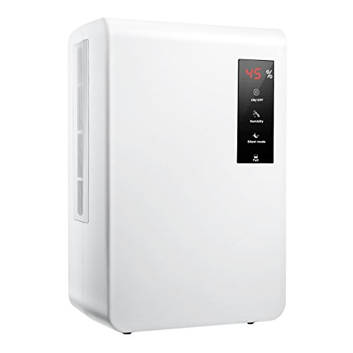 VicTsing Electric Dehumidifier, Smart Humidity Control Touch Screen , Portable Dehumidifiers for Damp Air, Ultra-Quiet...