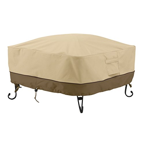 Classic Accessories 55-490-011501-00 Veranda Square Fire Pit/Table Cover, 30-Inch