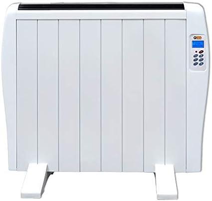 Haverland EC 8 | Emisor Térmico de 8 Elementos de Aluminio 1200W. | 12-19m2 | Bajo Consumo | Calentamiento Rápido | Temporizador | Mando a Distancia | 3 Modos | Incluye Patas y Soporte para Pared.