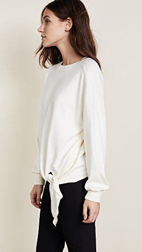 Vince Women's Tie Waist Crewneck, Cream, Small by Vince (Image #4)