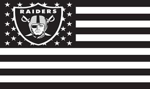 Officially Licensed Oakland Raiders American Flag - Flag 3 x