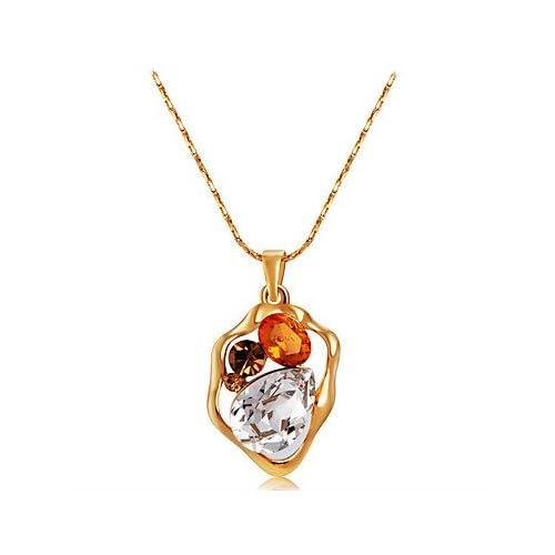 MJW&XL Femme Irrégulier Forme Classique Mode Pendentif de collier Cristal Zircon Or rose Cristal Zircon Pendentif de collier Mariage Soirée