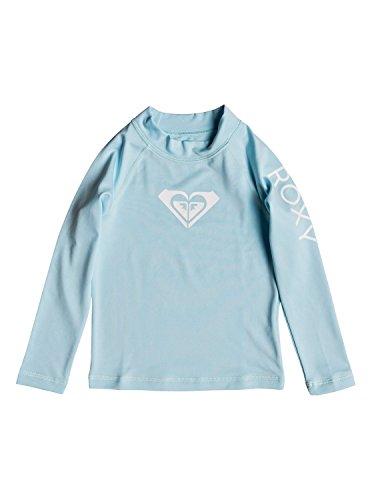 (Roxy Girls' Little Whole Hearted Long Sleeve Rashguard, Crystal Blue, 6)