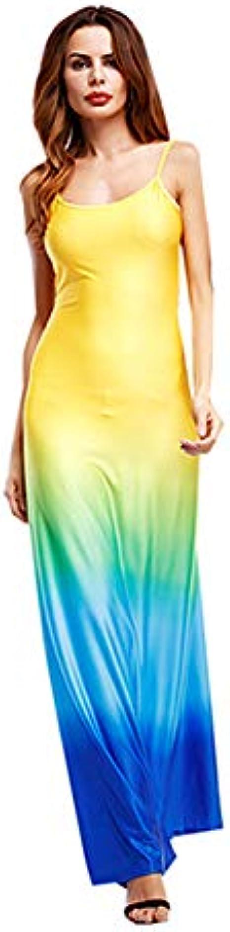COZOCO Fresca y Hermosa para Mujer gradiente de Color Honda Larga ...
