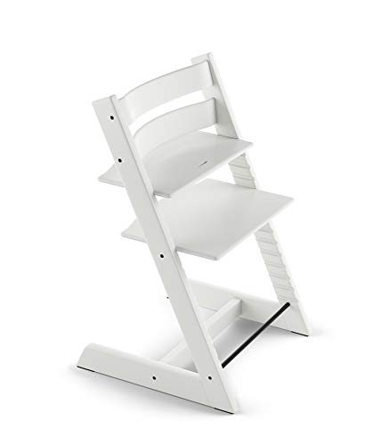 Tripp Trapp By Stokke Adjustable Wooden White Baby High Chair Chair Only