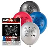Unique Latex Star Wars The Force Awakens Balloons, 8-count, 12-inch