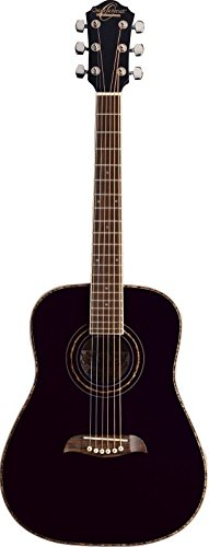 Oscar Schmidt 6 String OG1B 3/4 Size Dreadnought Left Hand Acoustic Guitar. Black (OG1BLH-A)