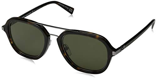 (Marc Jacobs Marc172s Aviator Sunglasses, DARK HAVANA/GREEN, 54 mm)