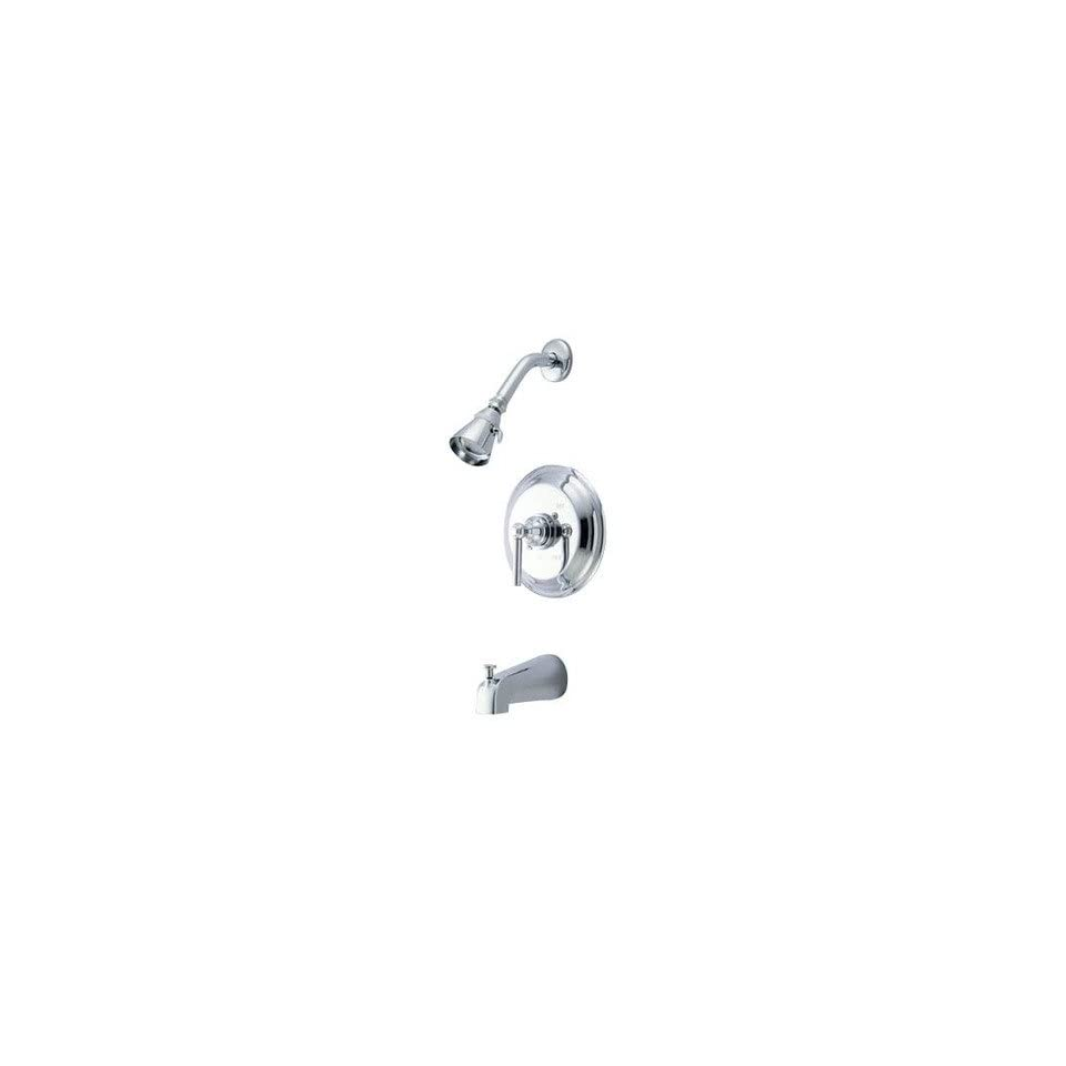 Volume Control Tub and Shower Faucet Finish Polished Chrome
