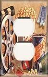 Single Duplex Outlet Cover OVERSIZE - Movie Popcorn