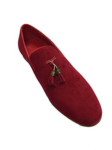 london fashion , Herren Mokkasins Rot