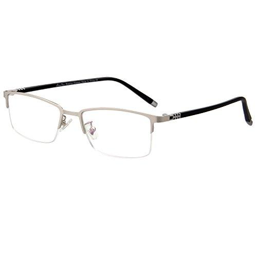 LianSan Half Rim Mens Womens Rectangle Vintage Fashion Reading Glasses 1.0 1.5 2.0 2.50 3.0 L7022 black - Cartier Vintage Sale Sunglasses For
