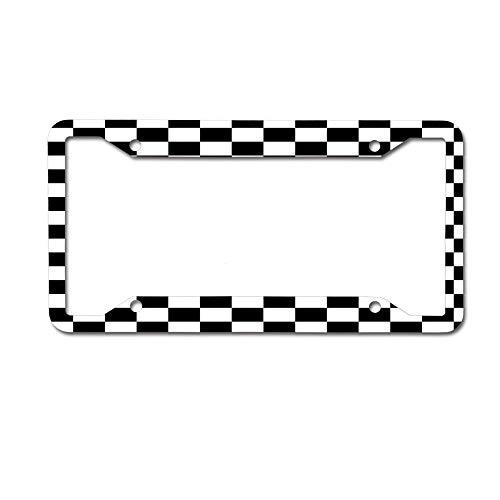 GqutiyulUCOOL Custom License Plate Frame Black,Aluminum Metal Auto Car License Plate Frame Tag 4 Holes - Checkered Racing Car Flag Pillow and Cushion - University Pillow Bow