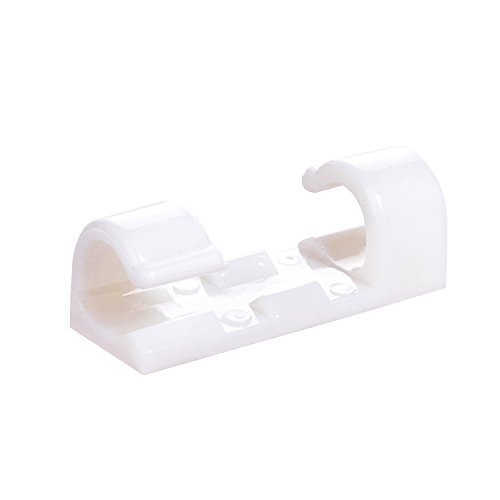 Self-Adhesive Cable Clips Organizer Drop Wire Holder Cord Management, Pack of 20, White