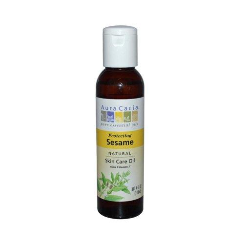 Aura Cacia Natural Skin Care Oil Sesame -- 4 fl oz