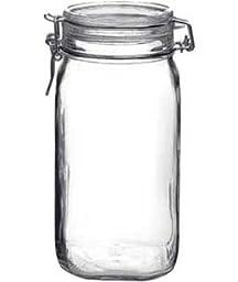 6 Pcs Bormioli Rocco Fido 1.5L (54oz) Latch Lid Canning Glass Jar