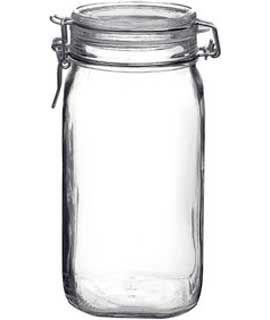 6 Pcs Bormioli Rocco Fido 1.5L (54oz) Latch Lid Canning Glass Jar ()