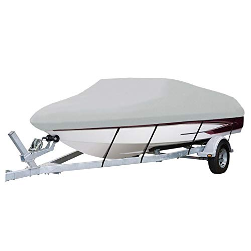 Seachoice 97341 Sterling Series Boat Cover for V-Hull Runabouts and Low-Profile Cuddy Cabins with Rail - Fits 19 to 21 Foot Boat - 105 Inch Beam