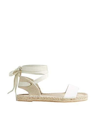 Shele Womens Lace Up Flat Espadrilles Sandals Peep Toe Ankle Strap Classic Tie Up Shoes