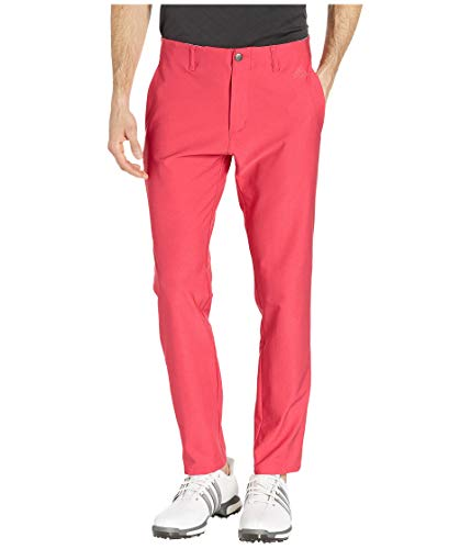 (adidas Golf Ultimate 3-Stripe Tapered Pant, Active Pink,)