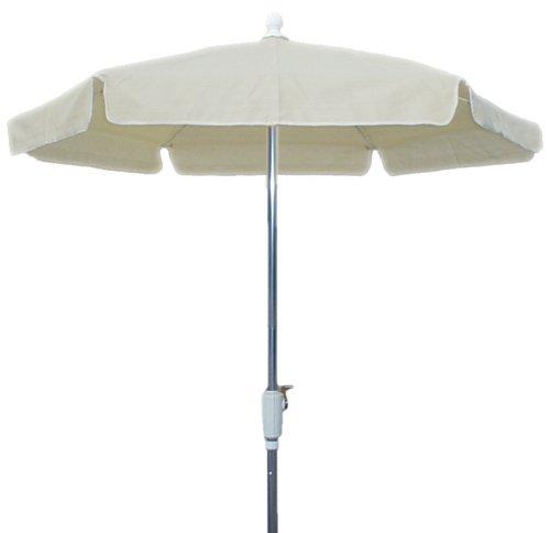 FiberBuilt 76RCRAT-NAT 7.5 foot garden umbrella, Natural