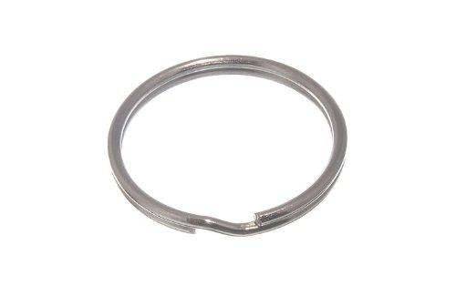 Split Key Rings 30Mm 1 1/8 Inch Nickel Plated Steel Pack Of 10 onestopdiy.com