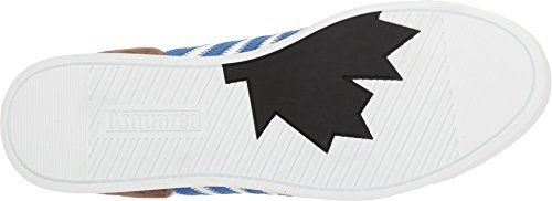 Dsquared2 Mens New Runner Sneaker Bianco / Blu / Militare