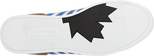 Dsquared2 Heren Nieuwe Runner Sneaker Wit / Blauw / Militair