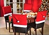 """Christmas House 20"""" Santa Hat Chair Covers (Set of 4)"""