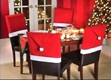 "Christmas House 20"" Santa Hat Chair Covers (Set of 4)"