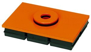 10''x12'' Base 1''Thk 6000Lb Cap Neoprene & Steel Vibration Isolation Pad