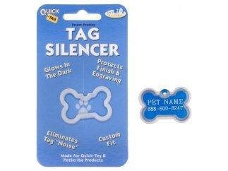 Hillman Quick Tags ID Tag Silencers- (Large Bone Tag)