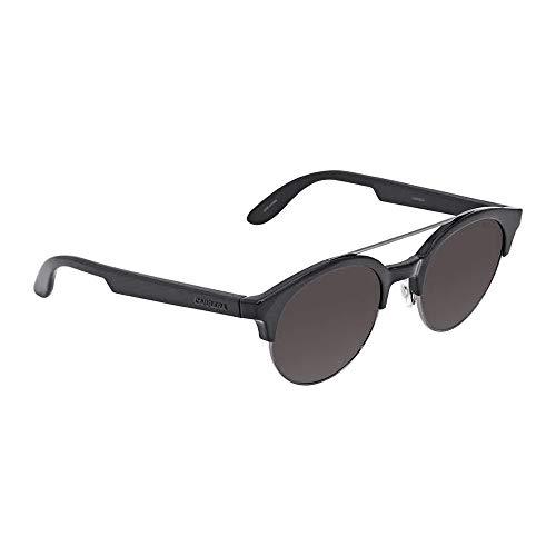 (Carrera Ca5035s Round Sunglasses, Black Dark Ruthenium/Brown, 50 mm)