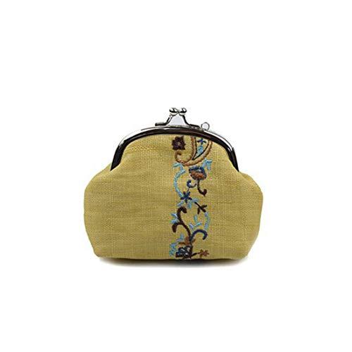 Sac brodé Iudrfgsd à or monnaie main Sac Sac Yellow clé à à en qq6waxzg