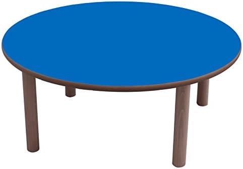 Mobeduc Mesa Infantil Redonda diam, Azul Oscuro, diámetro de 80 cm ...
