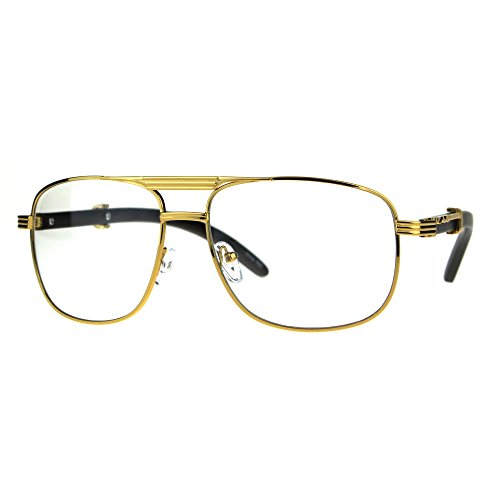 4d2dc0ec50 SA106 Art Nouveau Vintage Style Oval Metal Frame Eye Glasses Pilots Yellow  Gold