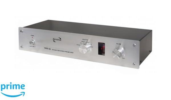 Dynavox TPR-43 - Amplificador a válvulas, color negro (importado): Amazon.es: Electrónica
