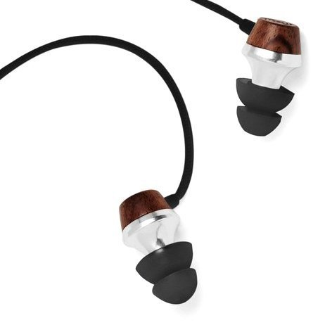 Symphonized ALN Premium Genuine Wood in-Ear Noise-isolating Headphones, Earbuds, Earphones with Mic (Black)