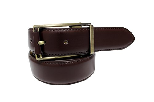 New Men's Marco Valentino Italy Solid Burgundy Belt - Size: 36
