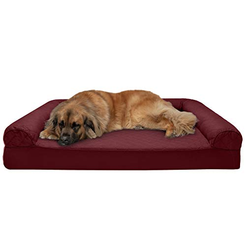 Furhaven Pet - Orthopedic Living Room Sofa-Style Couch, Mold & Mildew Resistant Elevated Mesh Dog Bed Cot for Dogs & Cats - Multiple Styles, Sizes, & Colors