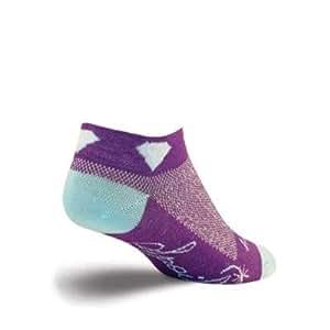 SockGuy Women's 1in Diamond Cycling/Running Socks (Diamond - S/M)