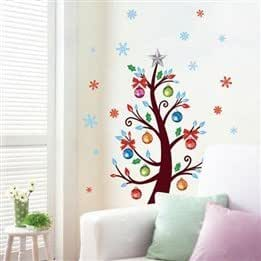 Durable Removable Background Home Christmas Tree Decor Wall Sticker